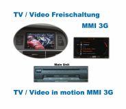 TV / DVD Freischaltung Audi MMI 3G A5, Q5, Q7, A6 4F, A8 4E, A8