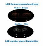 Komplett Set LED Kennzeichenbeleuchtung Audi