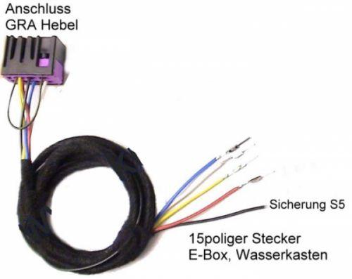 Kabelsatz Tempomat GRA  für Audi A4 B5