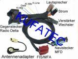 Adapter Radio Delta auf MFD für Bora